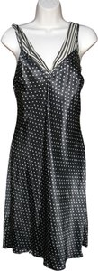Laundry by Shelli Segal Silk Polka Dot Striped Slip Dress