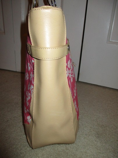 Bath and Body Works Tote in tan, pink & white Image 6