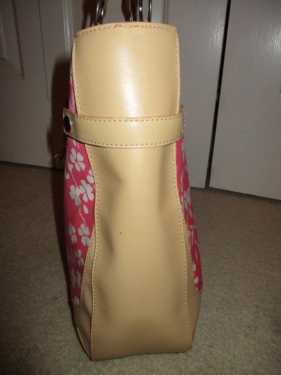 Bath and Body Works Tote in tan, pink & white Image 7