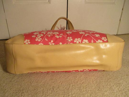 Bath and Body Works Tote in tan, pink & white Image 9