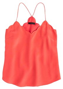 J.Crew Silk Coral Dry Clean Top Burnished Coral