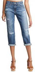 AG Adriano Goldschmied Goldschmeid Capri/Cropped Denim-Medium Wash