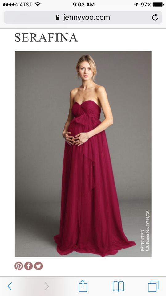 d60776beb8f Jenny Yoo Black Cherry Serafina Maternity Formal Bridesmaid Mob Dress Size  14 (L). 123