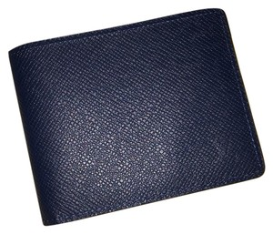 Louis Vuitton Louis Vuitton NEW! 2016 Slender Wallet Taiga Navy Blue Ocean Bifold Pocket Organizer Card Holder M32834 Like James Marco Simple Multiple