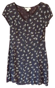 Band of Gypsies short dress Black with White and yellow flowers on Tradesy