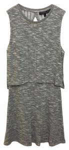 Topshop short dress Grey Knit Layered Open Back A-line on Tradesy