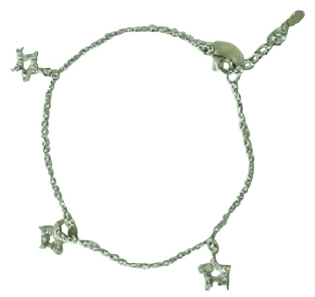 """Silver 9""""+1 Extension Rhodium Plated Sterling Link Chain Anklet Silver 9""""+1 Extension Rhodium Plated Sterling Link Chain Anklet Image 1"""