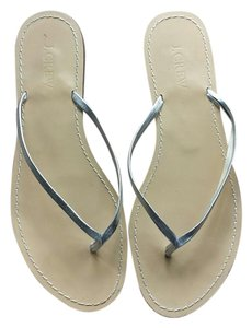 J.Crew silver Sandals