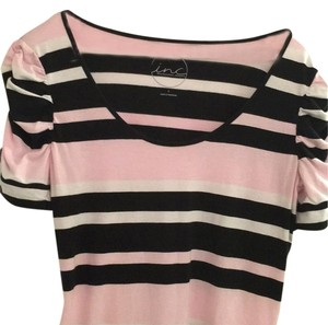 INC International Concepts T Shirt Pink/White/Black