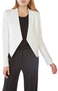 BCBGMAXAZRIA Draped Bcbg Cream / Chalk Blazer