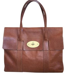 Mulberry Bayswater Satchel in Oak Natural Leather (Cognac)