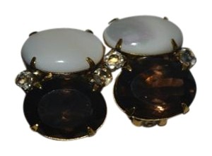 iRADJ Moini NEW SIGNED IRADJ MOINI PEARL SMOKY QUARTZ CITRINE EARRINGS