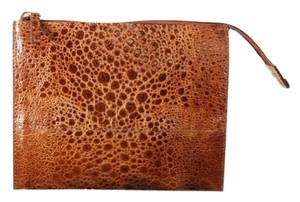 Dolce&Gabbana Cognac Alligator Brown Clutch
