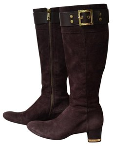 Tory Burch Brown with gold hardware Boots