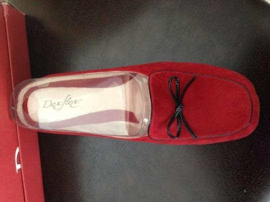 Dexter Suede Red Mules