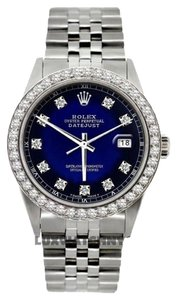 Rolex MEN'S ROLEX DATEJUST S/S DIAMOIND WATCH