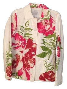 Chico's White/Pink/Green Jacket