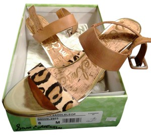 Sam Edelman Sandal New Brown/Black/Gold Wedges