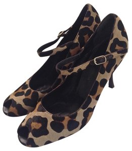 Dolce&Gabbana Slingback Animal Print Pony Peep Toe Sandals