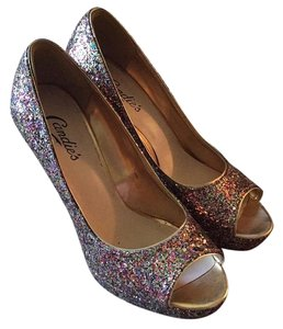 Candie's Multicolored glitter Platforms