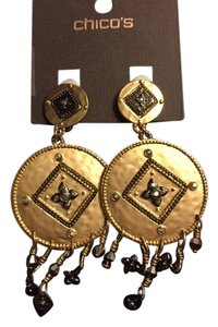 Chico's Clip-on Gold chandelier earrings