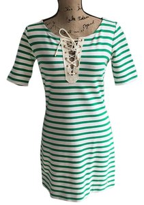 Juicy Couture short dress Green and white striped on Tradesy