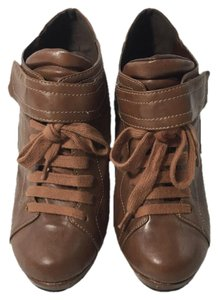 Forever 21 Faux Leather Pump Fall TAN/ BROWN Boots