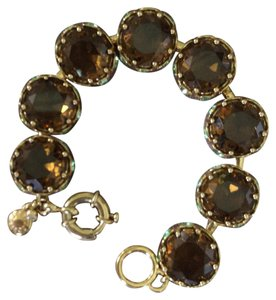 J.Crew J Crew Gold And Crystal Bracelet