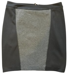 Express Skirt Black and gray tweed