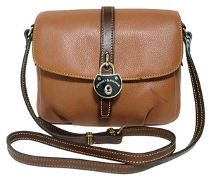 Dooney & Bourke Samba Camel Leather Cross Body Bag