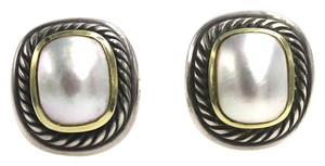 David Yurman David Yurman Albion Mabe Pearl Albion Two-Tone Earrings