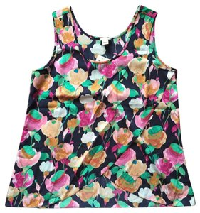 J.Crew Top Navy pink green
