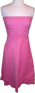 J.Crew short dress Pink Strapless Size 8 on Tradesy