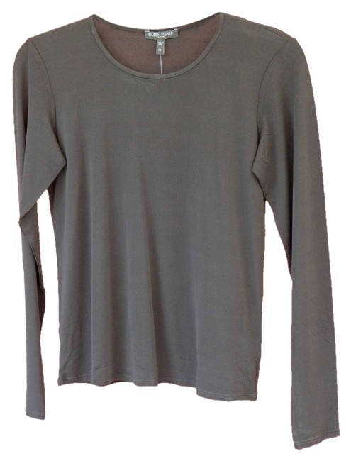 Preload https://img-static.tradesy.com/item/1901088/eileen-fisher-black-blouse-size-petite-6-s-0-0-650-650.jpg