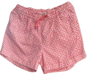 Land's End Kids Cuffed Shorts Orange and white
