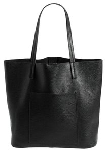 Street Level Leather Oversized Faux Big Tote in Black