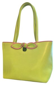 Furla Leather Pink Tote in Green