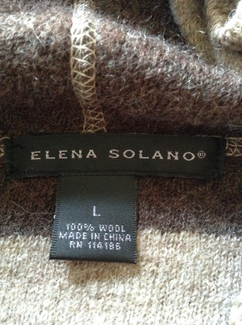 Elena Solano Wool Dryclean Only Cape