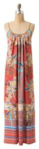 red / multi Maxi Dress by Rozae Nichols Hawaiian Vivid Floral Bright Relaxed
