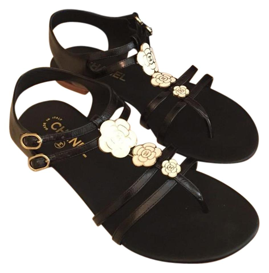c80eec5c29c7 Chanel Black 2016 New In Box Thong Sandals European 40 Flats. Size  US ...