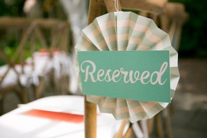 Set Of Two Reserved Signs