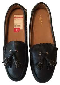 Coach Norfolk Moccasins Black Flats