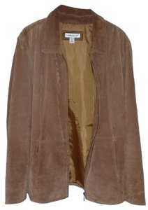 Coldwater Creek Suede Leather Coat