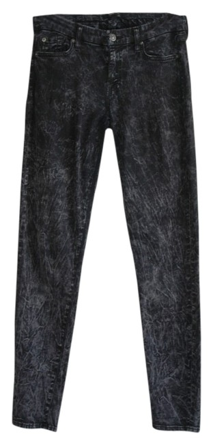 Item - Gray Acid The Wash Charcoal Skinny Jeans Size 29 (6, M)