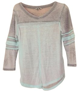 BKE Top Mint green and light grey