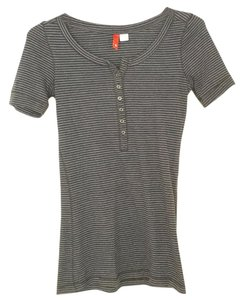 H&M T Shirt Blue with black stripes