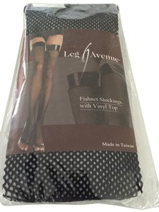 Leg Avenue Leg Avenue Fishnet Stocking w/Vinyl Top