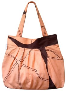 Lotta Jansdotter Graphic Linen Organic Summer Tote in Peach and Brown