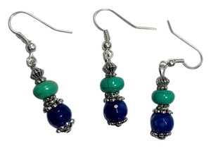 Turquoise & Agate Gemstone Pair W/Free Spare Earrings E2003