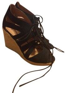 H&M black Wedges